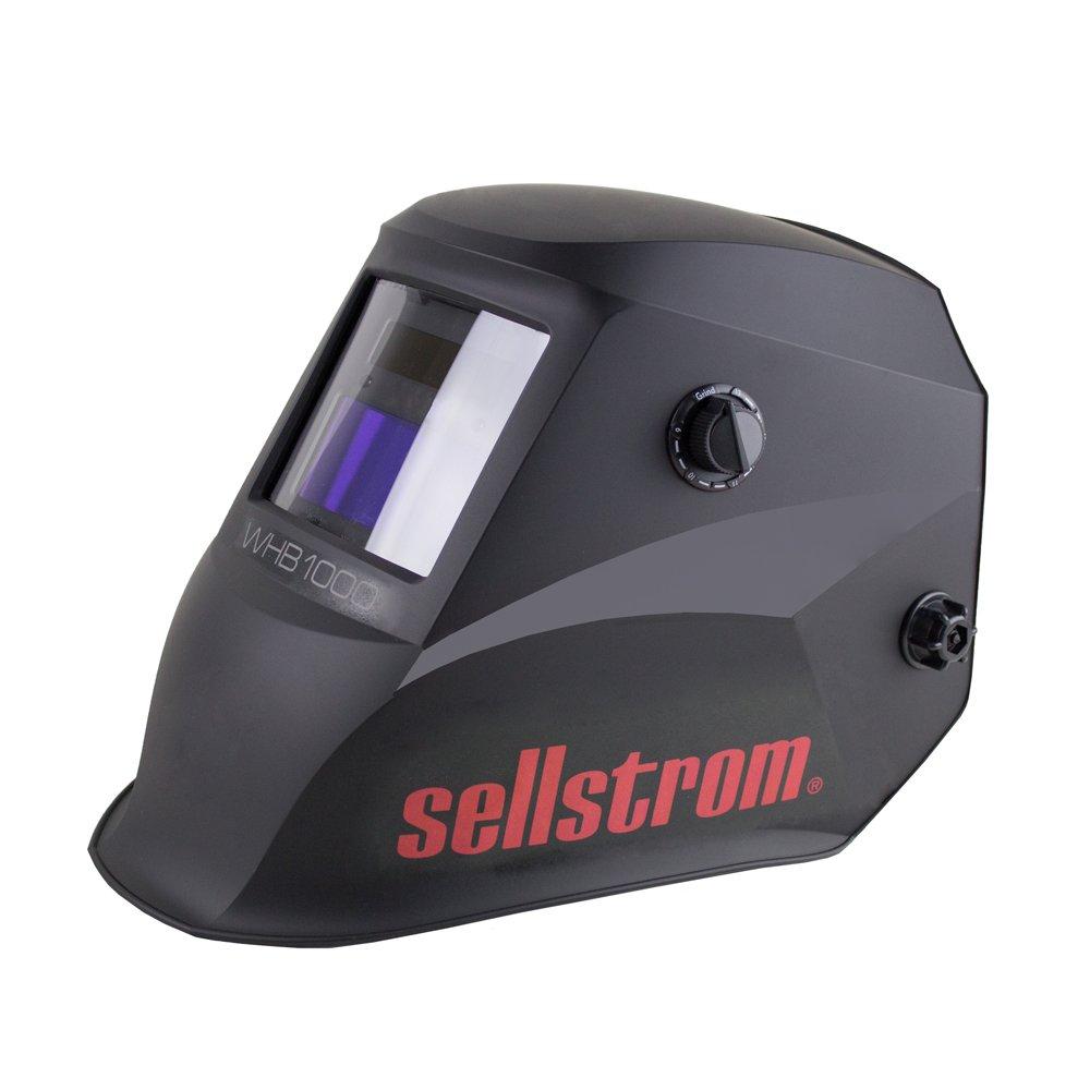 Sellstrom S26100 Advantage Auto-Darkening Filter (ADF) Welding Helmet, Adjustable Sh 4/9-13, Grind Mode, External Controls - Ratchet Headgear, Lightweight Nylon Shell