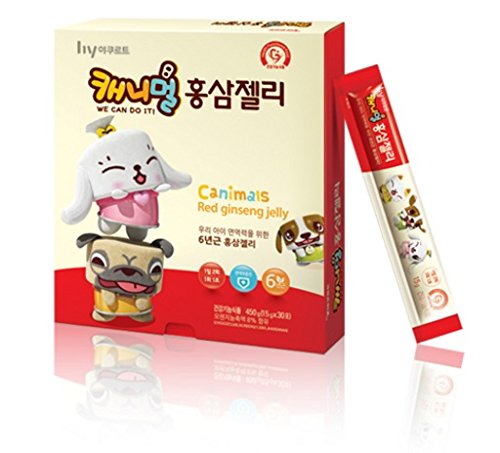Korean Yakult Canimals Red Ginseng Jelly 450g (15gⅹ 30pcs) by Yakult