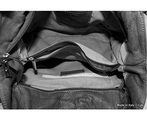 main a cuir à cuir cuir a cuir a Plusieurs cuir Sac sac main femme Coloris Gris Anny sac femme sac mode anny main sac Italie main cuir sac sac sac Foncé sac fwBqdS