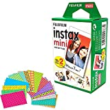 Photo : Fujifilm Instax Mini Instant Film (Twin Pack, 20 Total Pictures) + 20 Sticker Frames