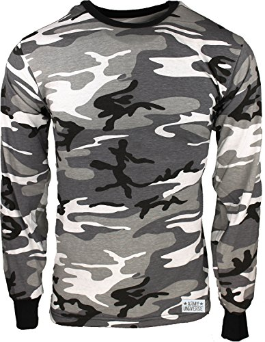 Military Camouflage Long Sleeve T-Shirt Camo Army Tee With ArmyUniverse Pin  - Buy Online in KSA. Apparel products in Saudi Arabia. 83cbd18009c