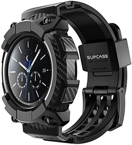 SUPCASE [Unicorn Beetle Pro] Series Case for Galaxy Watch 3 [45mm] 2020 Release, Rugged Protective Case with Strap Bands