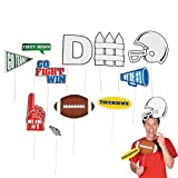 Football Team Sports Party Photo Picture Booth Prop Sticks - 12 pieces