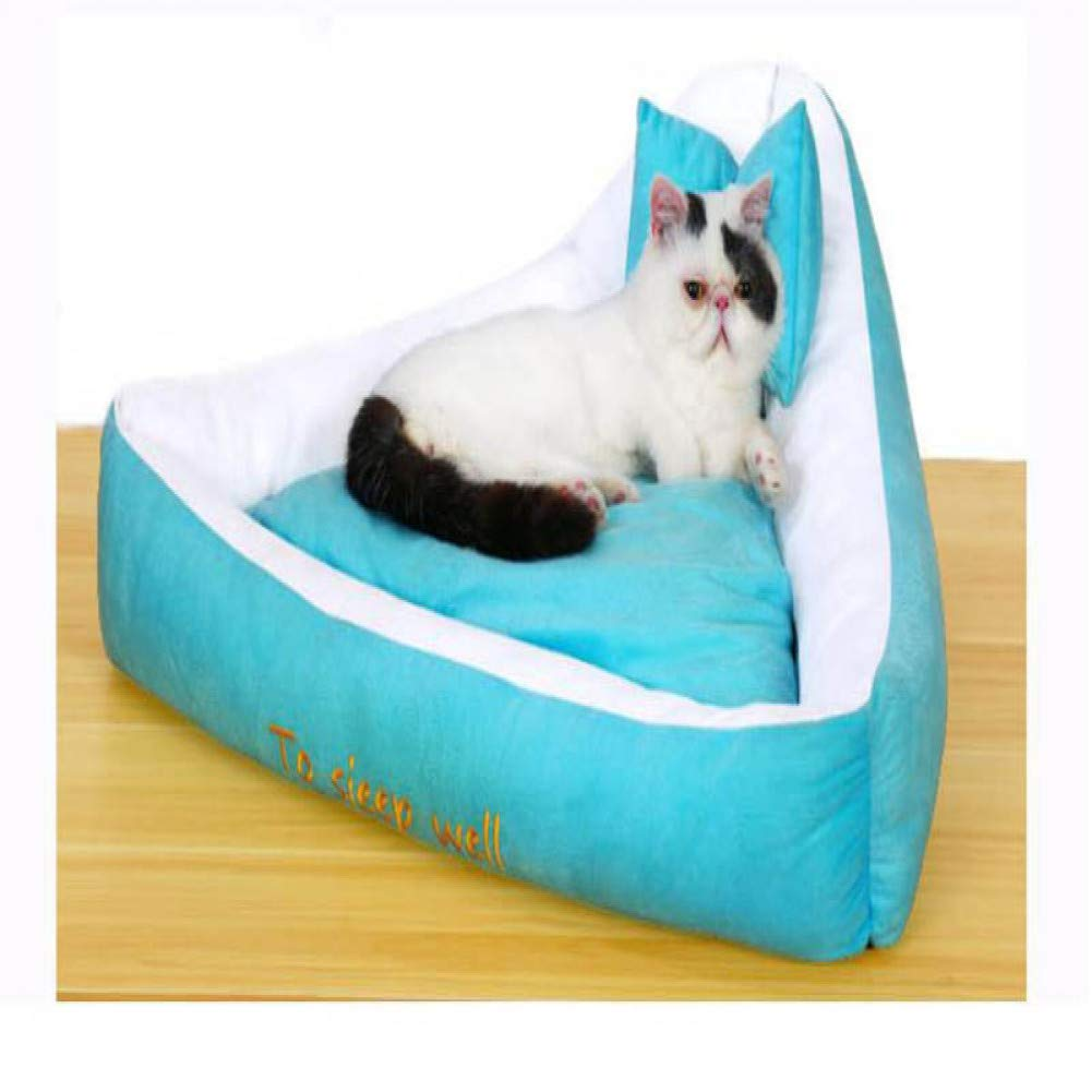 WWSSXX Pet Kennel Rimovibile Round Crown Style Four Seasons Seasons Seasons Pet Mat Large Medium Piccolo Cane Letto Cat House Sofa Warm Cushion 451f9d