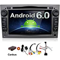 2G 32G 7 Inch Quad Core Android 6.0 HD 1024x600 Double 2 Din In Dash Radio Multimedia Receiver Touch Screen with Bluetooth & Built-in USB Port (Black/Grey) For Opel Astra Vectra Antara Zafira Corsa