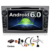 opel astra 1 6 - 2G 32G 7 Inch Quad Core Android 6.0 HD 1024x600 Double 2 Din In Dash Radio Multimedia Receiver Touch Screen with Bluetooth & Built-in USB Port (Black/Grey) For Opel Astra Vectra Antara Zafira Corsa