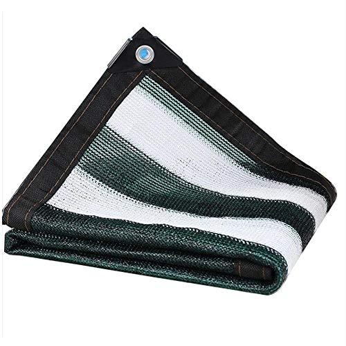 カップバランスのとれたマダムLIXIONG オーニングシェーディングネット ルーフ バルコニー 断熱 通気性のある パティオ シェーディングネット フラワーズ 日焼け止め 抗UV ポリエチレン、 複数のサイズ (色 : Green+white stripes, サイズ さいず : 2x2m)