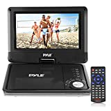 multimedia player portable - Pyle 9-Inch Portable DVD and CD Player - Built-in Rechargeable Battery, Dual Full Range Speaker, USB/SD, Headphone Jack, Remote Control w/ Cigarette Lighter Car Charger PDV905BK