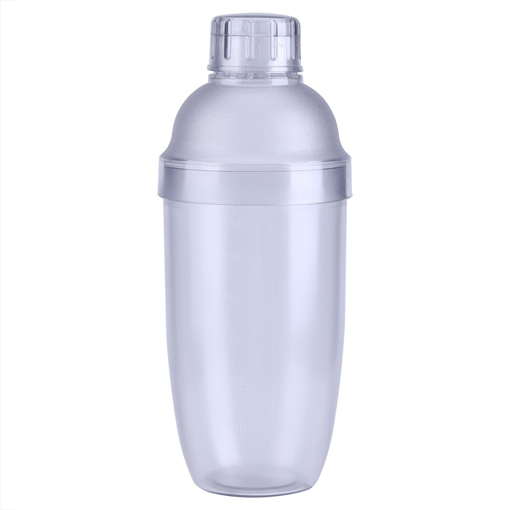 Cocktail Shaker-Anti-leakage Transparent PC Resin Milk Tea Cocktail Drink Shaker Bar Tool 700cc Yosoo