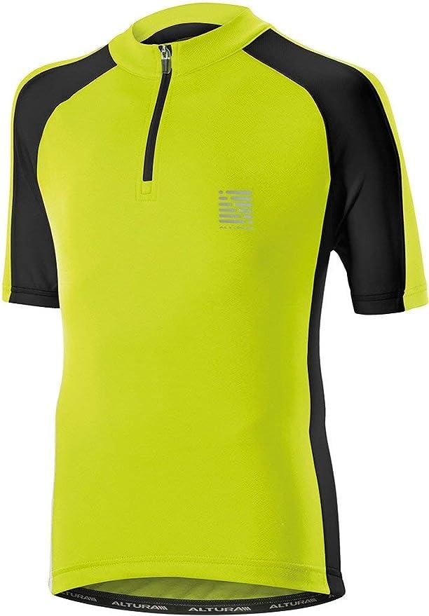 hi-viz yellow age 7-9 Madison Trail youth short sleeved jersey