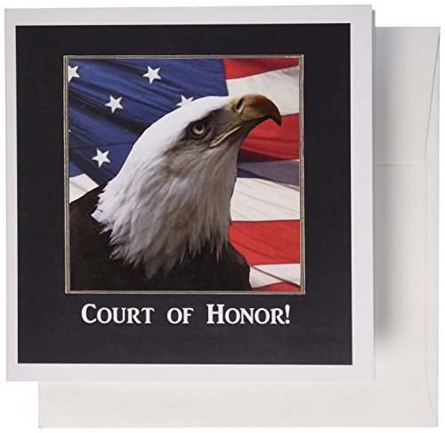 Honor Invitation Card (3dRose Eagle Eye, Eagle Scout Court of Honor - Greeting Cards, 6 x 6 inches, set of 12)