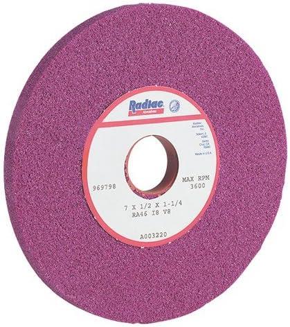 Radiac 34078045 6x 1//2x 1-1//4 RA46-J8-V8 Ruby Surface Grinding Wheel