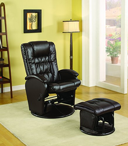 Coaster Furniture Rimini Euro Faux Leather Glider Recline...