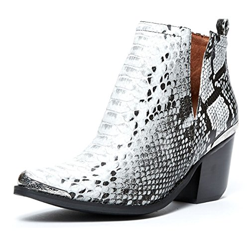 Jeffrey Campbell Snake, Black White, Cut Out Bootie, - Out Cut Campbell Jeffrey