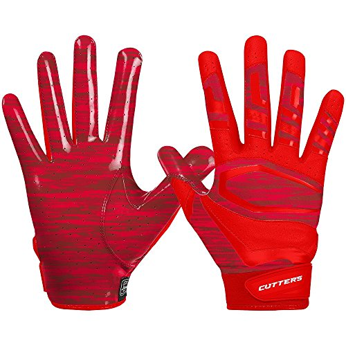 Cutters Gloves Rev Pro 3.0 Receiver Phantom Gloves, Red Camo, Large