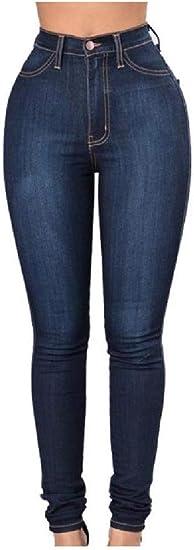 EnergyWD Womens Flexible High Waist Hip UP Washed Skinny Denim Pants