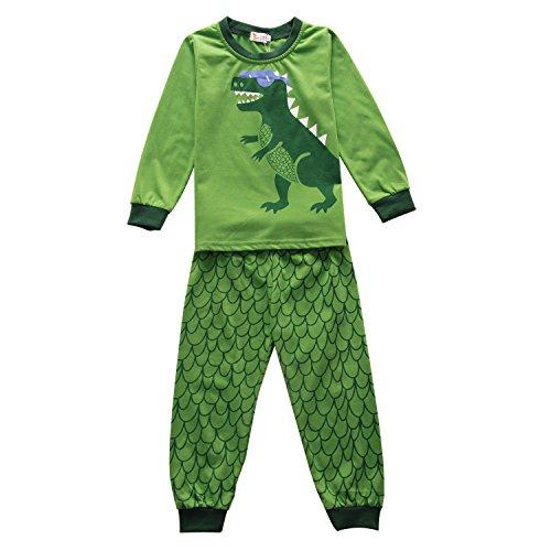 Toddler Dinosaur Costumes (Boys Pajamas Toddler Sleepwear Long Sleeves 2-Piece Cute Dinosaur Kids Shirts Christmas Clothes)
