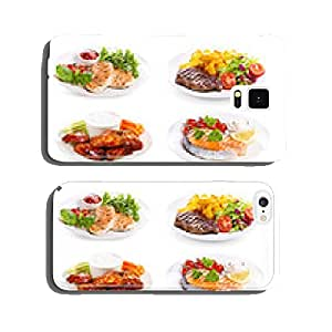 plates of various meat, fish and chicken cell phone cover case iPhone6 Plus