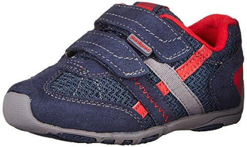 pediped Flex Gehrig Casual Sneaker , Navy/Cherry, 26 EU (9-9.5 E US Little Kid)
