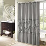 Gray Shower Curtain Comfort Spaces – Cavoy Shower Curtain – Gray – Tufted Pattern - 72x72 inches
