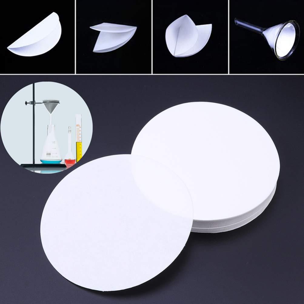 TOYANDONA 3 Boxes Medium Flow Qualitative Filter Paper Circles for School Laboratory Accessories 18cm White
