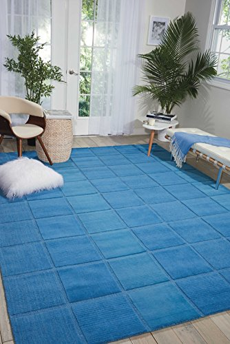 Nourison Westport (WP31) Blue Rectangle Area Rug, 3-Feet 6-Inches by 5-Feet 6-Inches (3'6