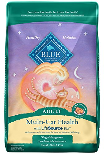 Buffalo Multi Soft - Blue Buffalo Multi-Cat Natural Adult Dry Cat Food, Chicken & Turkey 15-lb