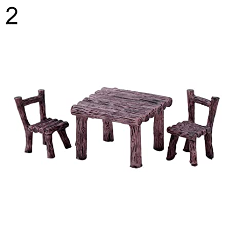 yongqxxkj - Juego de 3 sillas de Mesa Decorativas en Miniatura ...