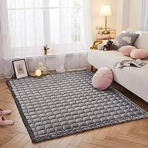 Premium Stylish Velvet Floor Mat, Cushy-Soft & Thick Crawling Rugs for Toddler, Puff Quilt Plush Baby Play Mat Nursery…