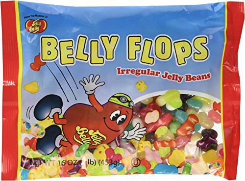 Jelly Belly, Belly Flops (1 Pound Bags) 2 Pack (Jelly Belly Bean Factory)