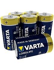 Varta Longlife D Mono Alkaline Batterij LR20, Verpakking van 6