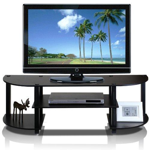Furinno 11058EX/BK Turn S Tube Wide TV Entertainment Center, Espresso/Black