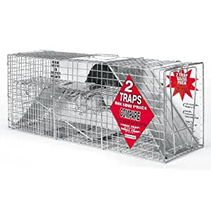 Advantek 20050B Catch and Release Live Animal Trap, 2-Piece Value Pack, Raccoon and Rabbit Traps