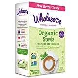 Wholesome Sweeteners Organic Stevia, 1 Gram Packets, 75 Count