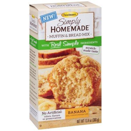 Fleischmann's Simply Homemade Banana Muffin & Bread Mix, 13.4 oz (Pack of 2)