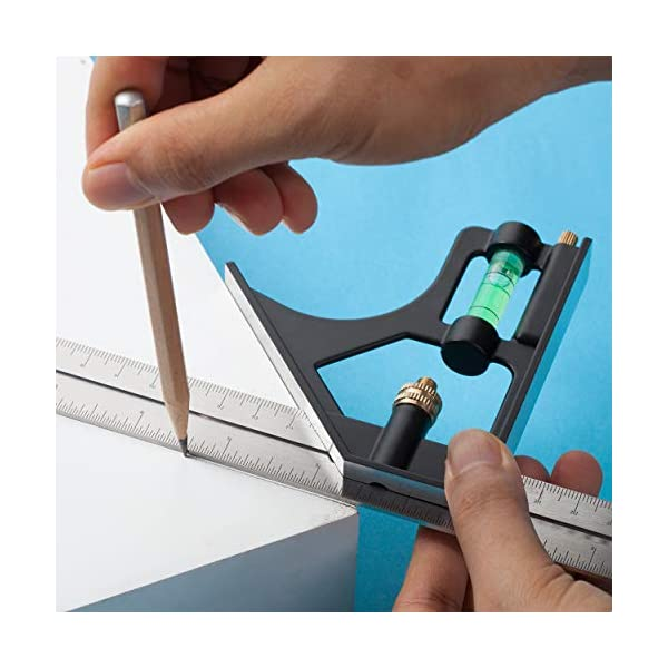 Mr-Pen-Combination-Square-12-Combo-Square-Carpenter-Square-Woodworking-Tools-Metal-Ruler-Framing-Square-Carpenter-Tools-T-Square-T-Ruler-Combination-Square-Set-Square-Tool-Metal-Square
