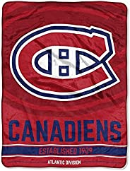 Officially Licensed NHL Break Away Micro Raschel Throw Blanket, Multi Color
