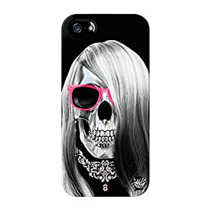 Lady Calavera 04Full Wrap Case, para iPhone 5/5S Impreso en 3d de alta calidad de Gangtoyz