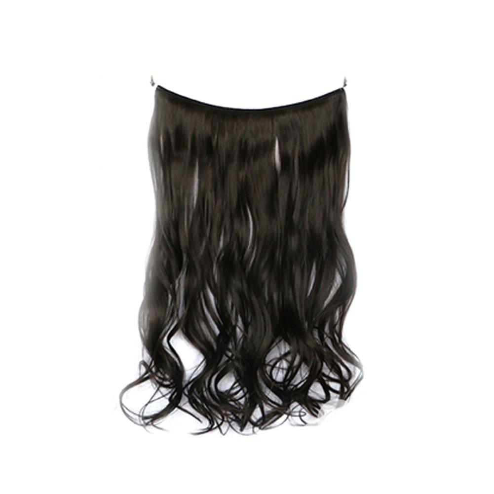Hrph 45cm Clip sintético en piezas de cabello resistente al calor Hairpiece natural rizado ondulado extensiones de cabello