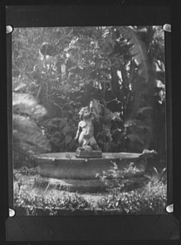 1920 Photo Fountain figure from the court of the Three Sisters, New Orleans C471 (The Court Of Three Sisters New Orleans)