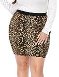 Search : Agnes Orinda Women's Plus Size Elastic Waist Leopard Prints Mini Pencil Skirt