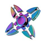Fidget Spinner Toy, ADHD Focus Anxiety Relief Toys, Definitely keeping hands busy and off the phone. EDC hand spinner Toy, Amazing! All ages are mesmerized by this (Colorful 5)