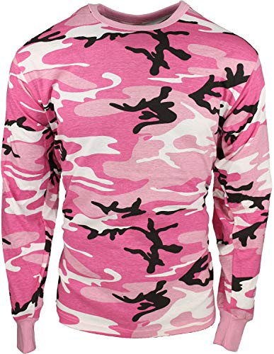 (Army Universe Pink Camouflage Long Sleeve Military T-Shirt Pin - Size Medium (37