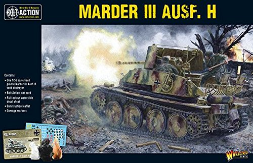 Bolt Action Marder III Ausf. H Tank 1:56 WWII Military Wargaming Plastic Model Kit