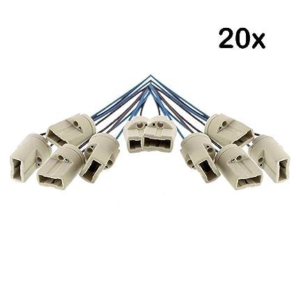 20 x Offgridtec G9 de bombillas de casquillo DVE y UL listed - con isol, ...