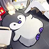 Penguin Shape Carpet Kids Room 100x150cm Children Play Game Floor Mat Home Entrance Doormat Study Area Rug Baby