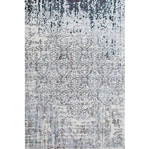 Decomall Vienna Modern Distressed Vintage Watercolor Abstract Bohemian Persian Shabby Chic Area Rug for Living Room, Bedroom, 8x10 ft, -