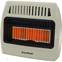 Kozy World KWP522 30000 Btu 5 Plaque Propane Infrared Vent Free Wall Heater
