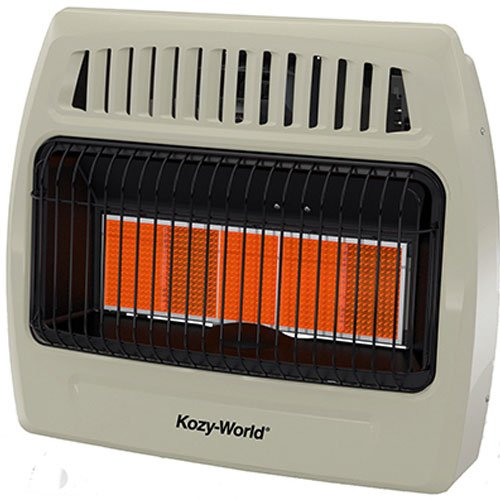Kozy World KWP522 30000 Btu 5 Plaque Propane Infrared Vent Free Wall Heater Built In Liquid Propane Heater