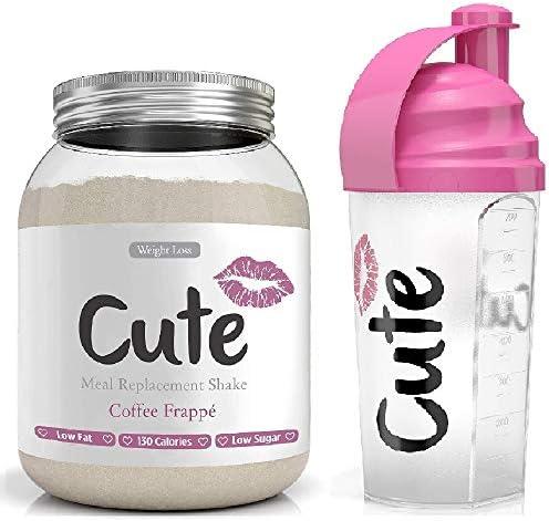 Cute Nutrition Mahlzeit Ersatz Shakes für Gewichtsverlust Kontrolle & Energie mit Shaker
